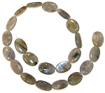 6 Labradorite 13x18mm Puff Oval Semiprecious Gemstone Beads