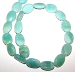 6 - 13x18mm Puff Oval Semiprecious Gemstone Beads - Amazonite