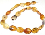 6 - 13x18mm Puff Oval Semiprecious Gemstone Beads - Crazy Lace Agate