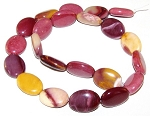6 - 13x18mm Puff Oval Semiprecious Gemstone Beads - Moukaite