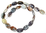 6 - 13x18mm Puff Oval Semiprecious Gemstone Beads - Picasso Jasper