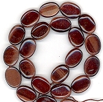 6 - 13x18mm Puff Oval Semiprecious Gemstone Beads - Red Tiger Eye
