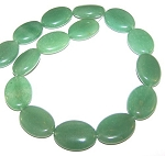 1 Strand of Aventurine 18x25mm Puff Oval Semiprecious Gemstone Beads