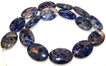 1 Strand of Sodalite 18x25mm Puff Oval Semiprecious Gemstone Beads