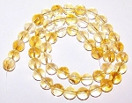 1 Dozen 6mm Round Semiprecious Gemstone Beads - Citrine