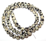 1 Strand of 6mm Round Semiprecious Gemstone Beads - Dalmatian Jasper
