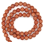 1 Dozen 6mm Round Semiprecious Gemstone Beads - Goldstone