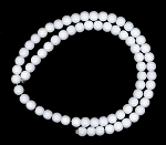 1 Strand of 6mm Round White Agate Beads