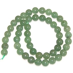 1 Strand of 8mm Round Semiprecious Gemstone Beads - Aventurine