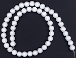 1 Strand of 8mm Round White Agate Beads