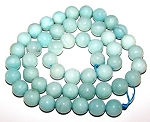 1 Strand of 8mm Round Semiprecious Gemstone Beads - Amazonite