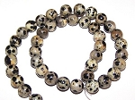 1 Strand of 8mm Round Semiprecious Gemstone Beads - Dalmatian Jasper