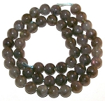 1 Strand of 8mm Round Semiprecious Gemstone Beads - Labradorite