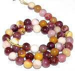 1 Strand of 8mm Round Semiprecious Gemstone Beads - Moukaite Jasper