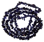 1 Strand of Semiprecious Gemstone Chip Beads - Blue Goldstone