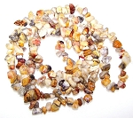 1 Strand of Semiprecious Gemstone Chip Beads - Crazy Lace Agate