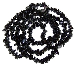 1 Strand of Semiprecious Gemstone Chip Beads - Obsidian