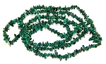 1 Strand of Semiprecious Gemstone Chip Beads - Malachite