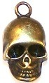 CLOSEOUT- 5 Antique Bronze 20x11mm Skull Pendants