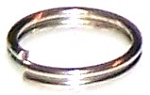 100 Antique Silver-Plated 8mm Split Rings