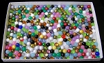 CLOSEOUT - 250 Grams of 8mm Round Czech Glass Beads - Random Colors