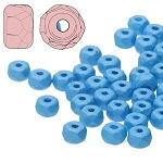 2.5 Grams Of 2x3mm Czech Glass Faceted Micro Spacers - Capri Blue