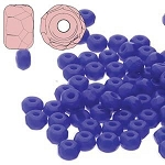 2.5 Grams Of 2x3mm Czech Glass Faceted Micro Spacers - Cobalt Blue