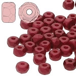 2.5 Grams Of 2x3mm Czech Glass Faceted Micro Spacers - Dark Red