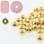 2.5 Grams Of 2x3mm Czech Glass Faceted Micro Spacers - 24 Kt Gold Plated