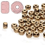 2.5 Grams Of 2x3mm Czech Glass Faceted Micro Spacers - Light Metallic Bronze