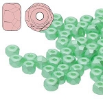 2.5 Grams Of 2x3mm Czech Glass Faceted Micro Spacers - Pastel Light Green