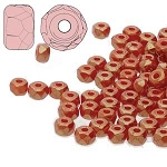 2.5 Grams Of 2x3mm Czech Glass Faceted Micro Spacers - Terracotta