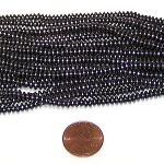 50 - 2.25x4mm Disc-Shaped Non-Magnetic Hematite Beads