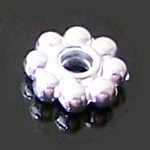 50 Silver-Plated 2x6mm Beaded Rondelles