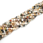 1 Strand of 4mm Round Semiprecious Gemstone Beads - Ocean Jasper