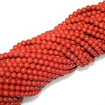 1 Strand of 4mm Round Semiprecious Gemstone Beads - Red Jasper