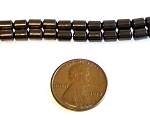 50 - 4x5mm Barrel-Shaped Non-Magnetic Hematite Beads