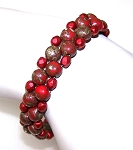 Red Picasso Halo Bracelet Beaded Jewelry Making Kit