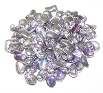 7.5 Grams of 6x8mm Czech Glass Tulip Petal Beads - Crystal Vitrail Light