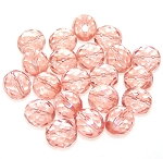 2 Dozen Czech 12mm Fire-Polished - Rosaline