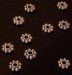100 Antique SP 7.5x2mm Beaded Rondelles