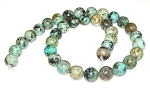 1 Strand of 10mm Round Semiprecious Gemstone Beads - African Turquoise