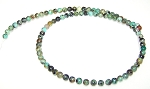 1 Strand of 4mm Round Semiprecious Gemstone Beads - African Turquoise