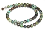 1 Strand of 6mm Round Semiprecious Gemstone Beads - African Turquoise