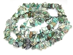 1 Strand of Semiprecious Gemstone Chip Beads - African Turquoise