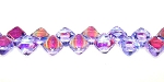40 Czech Glass Silky 2-Hole 6mm Beads - Alexandrite AB