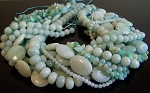 Amazonite Semiprecious Gemstone Beads - 10 Strand Set