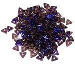 5 Grams of Czech Glass 4mm Tri-Beads - Amethyst Azuro