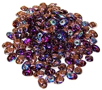 7.5 Grams - Superduo Beads - Amethyst Copper Rainbow