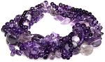 Amethyst Semiprecious Gemstone Beads - 7 Strand Set